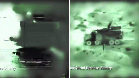 Israeli military publishes VIDEO of alleged attacks on Syrian air defenses